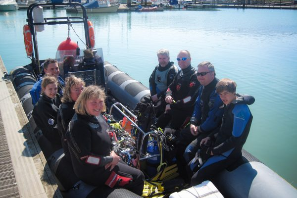 Scuba 2000 - rib boat diving in Newhaven, Sussex, UK